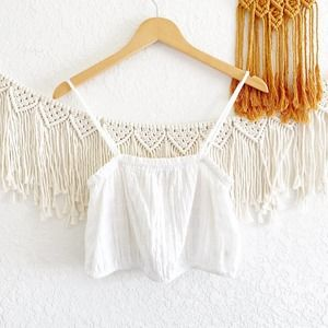 Aerie Textured Cropped Elastic Tank Top